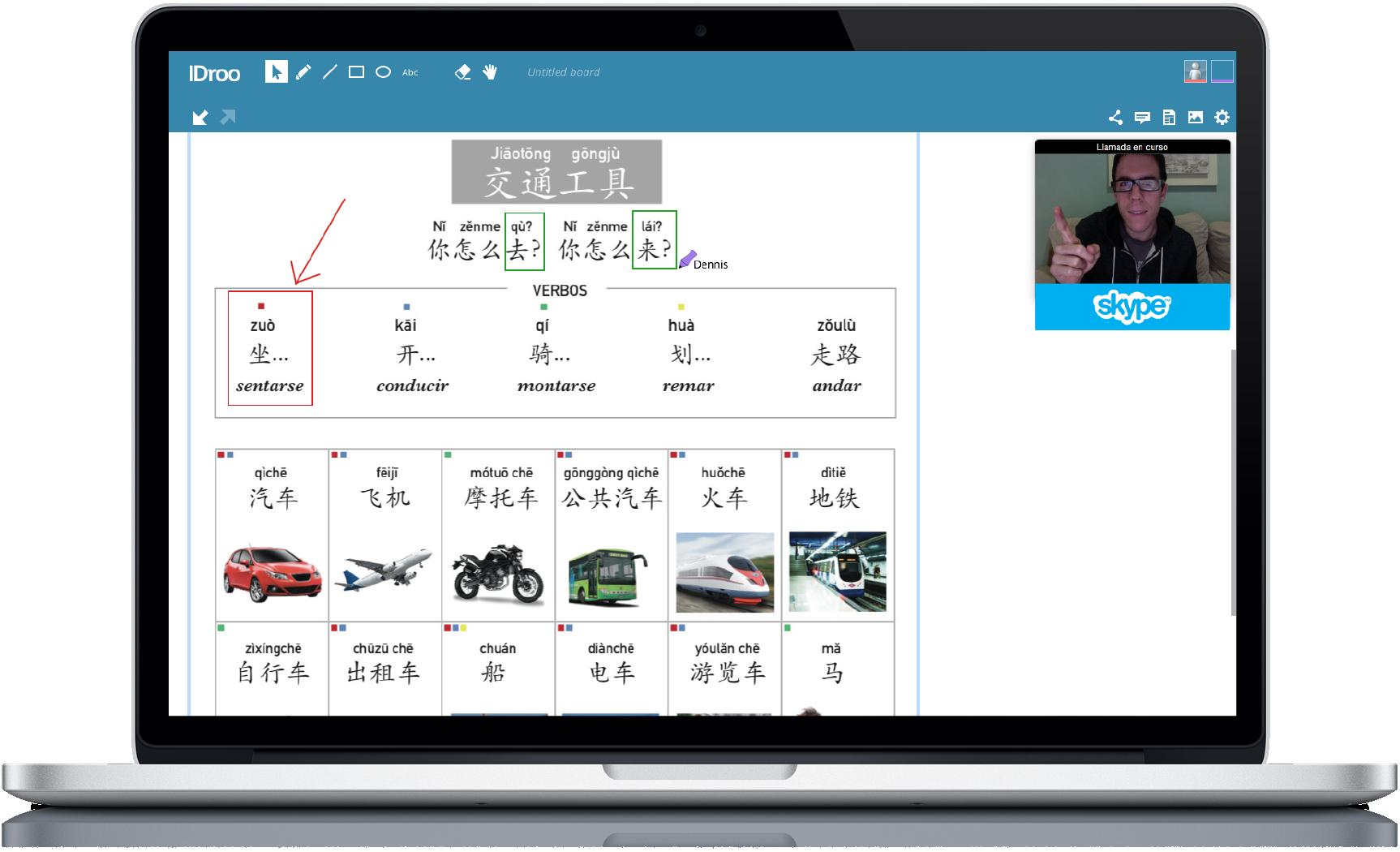 Curso chino skype